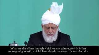 Friday Sermon Summary 31st October 2014