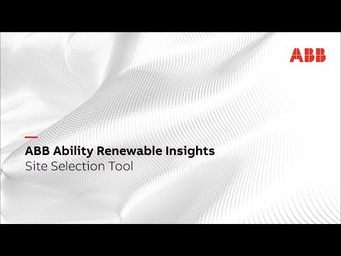 ABB Ability Renewable Insights Site Selection Tool