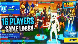 NEW 16 PLAYER 1 LOBBY UPDATE... CRAZY FORTNITE PATCH...
