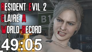 Resident Evil 2 Remake - Claire A Speedrun World Record - 49:05