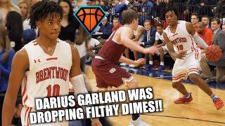 Darius Garland Was Dropping FILTHY DIMES & GETTING BUCKETS on Senior Night!! | McD's All-American