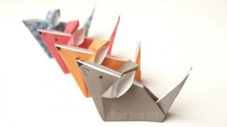 Cute Origami Mouse - Easy Origami for Kids.
