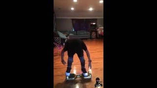"Malak Watson Officially Debuts The Space Chariot ""SPACE FLIP"" on Hoverboard"