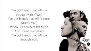 The Script - Run Through Walls | Lyrics On Screen