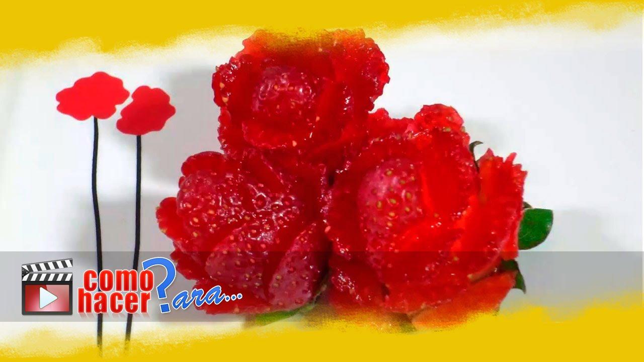 C mo decorar platos con frutillas youtube - Como decorar platos ...