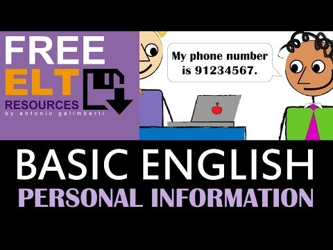 PERSONAL INFORMATION IN ENGLISH: FIRST NAME, LAST NAME, PHONE NUMBER, EMAIL ADDRESS