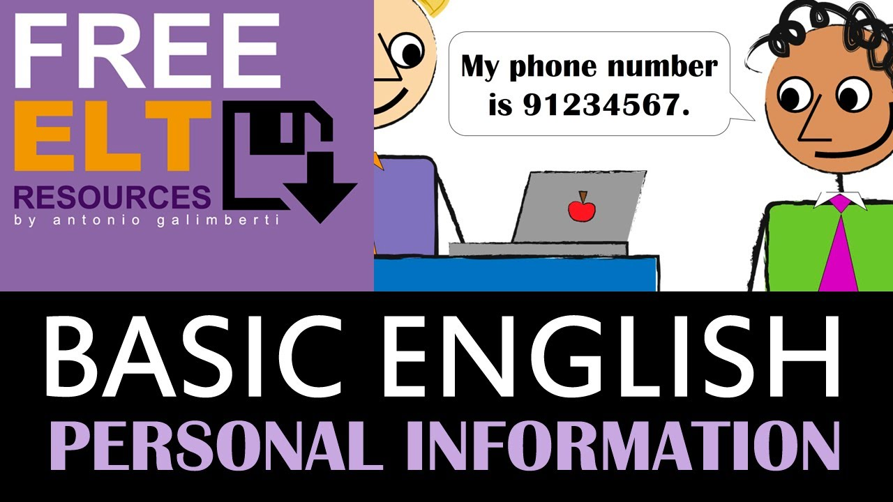 What does my phone number spell - Personal Information In English First Name Last Name Phone Number Email Address Youtube
