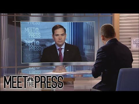 Full Rubio Interview: On McCabe, 'I don't like the way it happened' | Meet The Press | NBC News