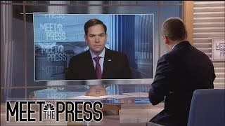 Sen. Marco Rubio: On McCabe, 'I Don't Like The Way It Happened' (Full) | Meet The Press | NBC News