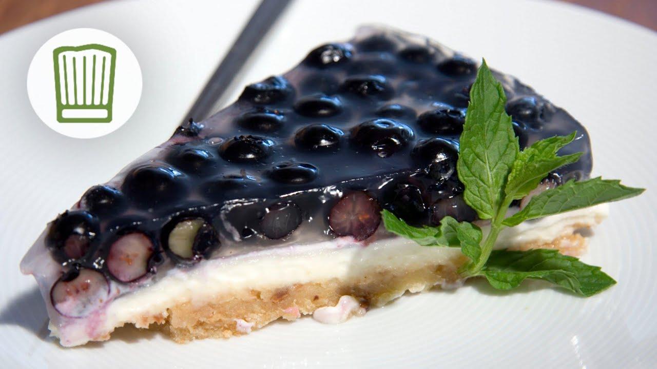 Frischkase Torte Mit Brosel Boden Und Blaubeeren Chefkoch Youtube