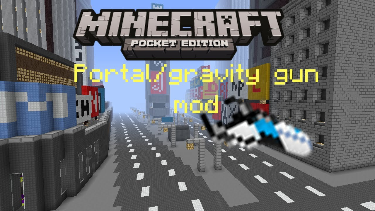 how to get portal gun mod in minecraft pe