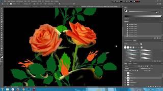 """Воссоздание коллажа """"Розы с лентами"""" для гравировки по фото клиента"""