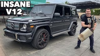 STRAIGHT PIPING MY FRIENDS G65 AMG! *WAY TOO LOUD*
