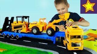 Машинки. Cтроительная техника для детей. Строим дорогу Construction vehicles for kids(Привет, ребята! В этой серии Игорюша распаковывает набор строительной техники, которая будет принимать..., 2016-10-05T05:00:01.000Z)