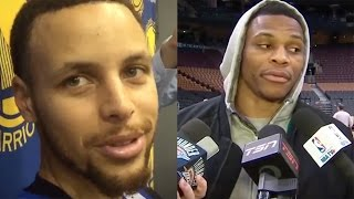 "Steph Curry RESPONDS to Russell Westbrook's ""Who is He? Comment"