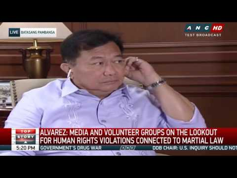 Alvarez OK with 5-month extension of martial law, but 5 years better