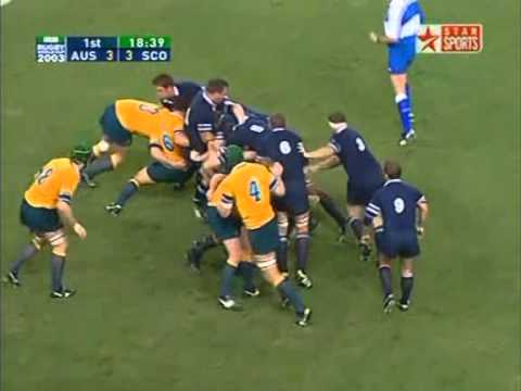 Rugby Union 2003 Quarter-final, Australia vs Scotland at Brisbane part 2.
