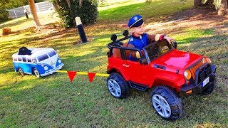 Little Bus stuck in the mud FUNNY BABY Paw Patrol Ride On POWER WHEEL 4wd Car for Help
