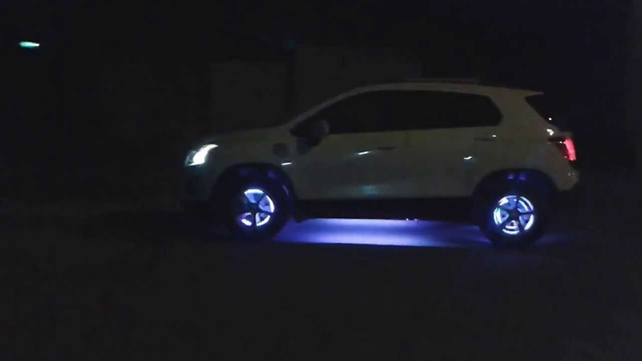 Chevrolet Tracker Tuning Luces Led En Rines Youtube
