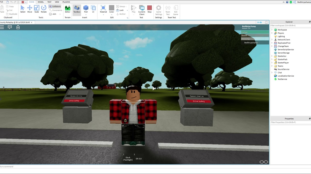 How To Make A Car Roblox 2019 How To Make Car Spawners Roblox Studio 2019 By Stevenplayz Games