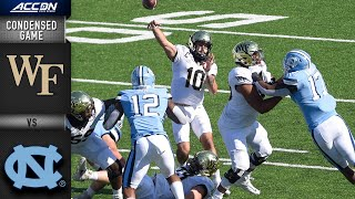 The offenses were on display in a high-scoring acc football game that saw north carolina tar heels beat wake forest demon deacons 59-53. q...
