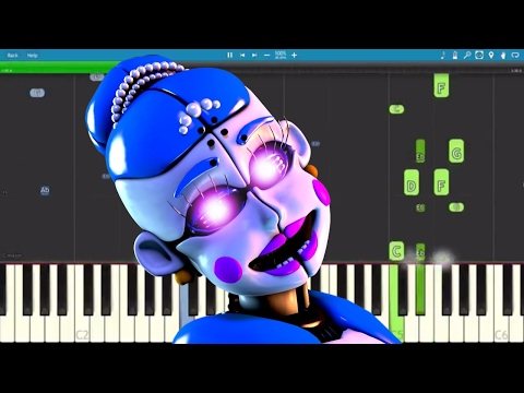 Ballora Song - Dance To Forget - FNAF SL - TryHardNinja - Piano Cover / Tutorial