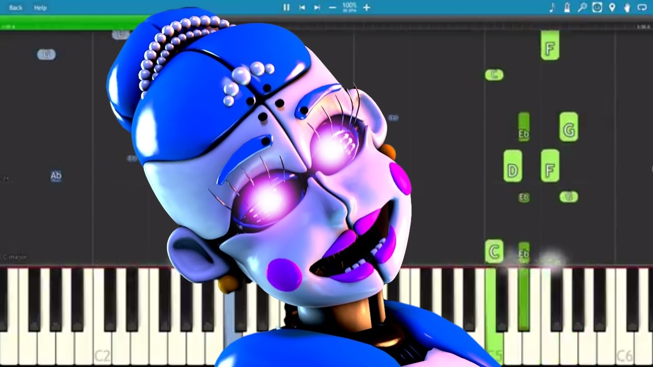 ballora song dance forget fnaf sl tryhardninja piano cover tutorial youtube