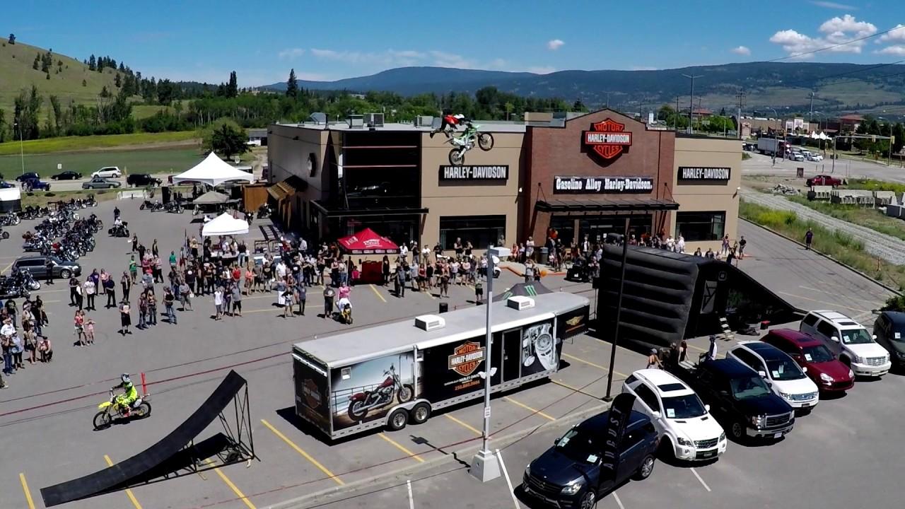 Gasoline Alley Kelowna Harley-Davidson Grand Opening FMX - YouTube
