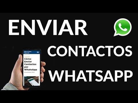 Cómo Enviar Contactos por WhatsApp