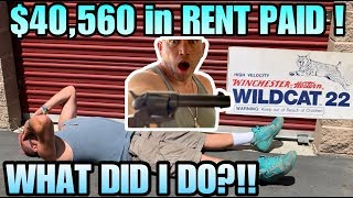 $40,560 PAID IN RENT! WHAT DID I DO! I bought an abandoned storage unit and FOUND AMMO!