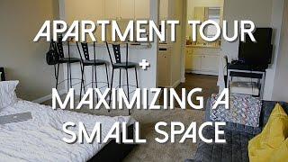 Studio Apartment Tour + Maximizing a Small Space