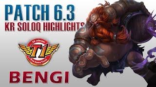 skt t1 bengi gragas jungle kr soloq highlights