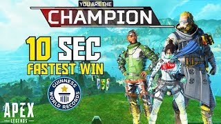Apex Legends: FASTEST WIN RECORD ..! Apex Legends Funny FAILS & WINS #3