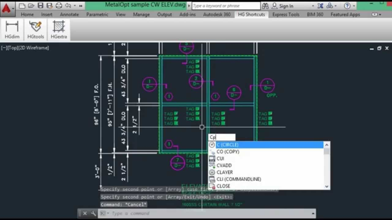 Create Curtain Wall Material And Glazing Data In Autocad