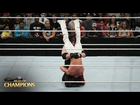 WWE Network: Kane Attacks Seth Rollins: Night Of Champions 2015