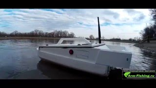 Самодельный карповый кораблик на БК моторе Bait boat brushless motor