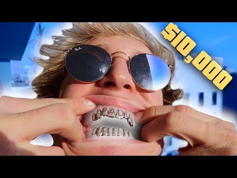Thumbnail: I BOUGHT MYSELF $10,000 CUSTOM DIAMOND GRILLZ!