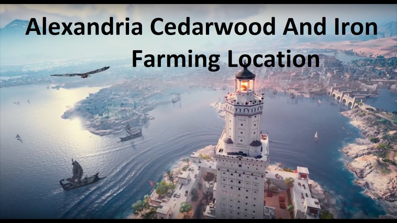 Assassin S Creed Origins How To Farm Cedarwood And Iron Youtube