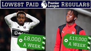 7 Lowest Paid Premier League Regulars