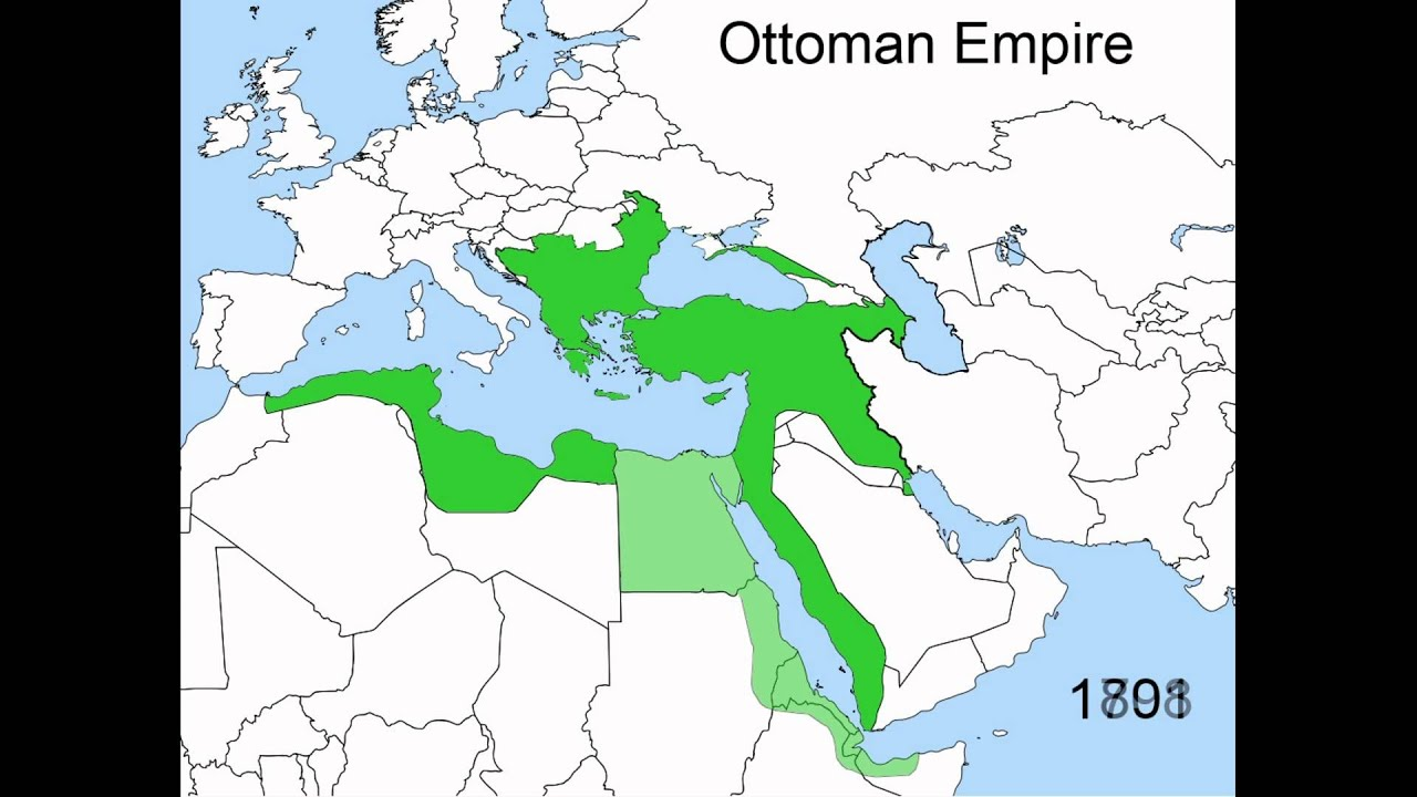Map Of The Ottoman Empire Rise and Fall of the Ottoman Empire 1300   1923   YouTube