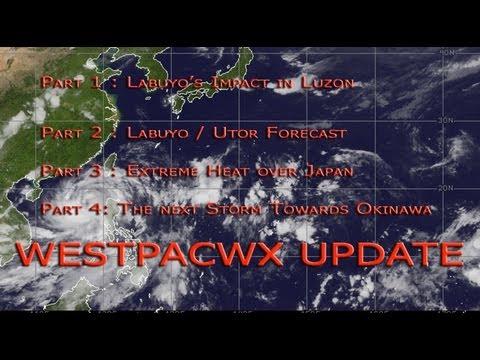 Utor : Labuyo Westpacwx Update #14 : Heat in Japan and Okinawa Storm