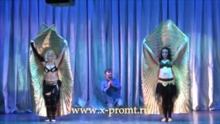 Восточный танец с крыльями - танец живота шоу. Отрывок из танцевального спектакля.