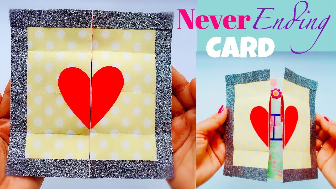 never ending card diy  endless card  youtube