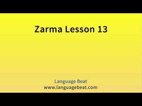 Learn Zarma   :  Lesson 13  -  Zarma  Phrases for Beginners