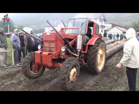 Tractors Belarus T-40 vuče 8 kubika trupaca