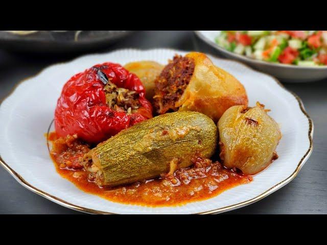 طريقه تحضير محشي الخضار طعم لا يقاوم لا يفوتكم Delicious Stuffed Vegetables Mahshi Youtube
