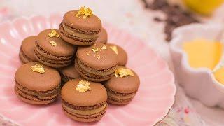 Macarons de chocolate y lemon curd - Receta - María Lunarillos | tienda & blog