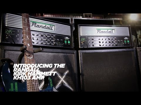 Kirk Hammett on his new Randall KH103 Signature Amp Head