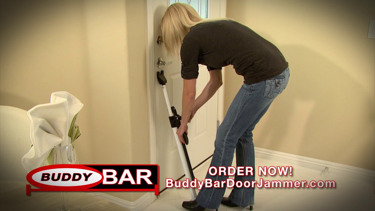 Buddy Bar Door Jammer Home and Family Security - YouTube