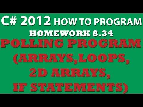 8-34 C#: Polling Program (2D arrays, Loops, Conditional Statements)